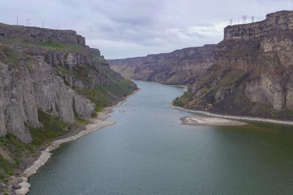 The Snake River at Shoshone Falls