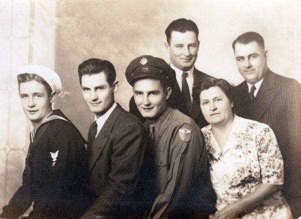 Bottom: Herbert, Royce, Ray, Lula (Higginbotham) ConleyBack: Frank, Glen Conley